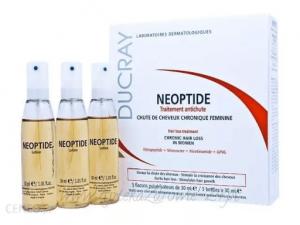 Spray przeciw wypadaniu włosów Ducray Neoptide - opinie o niewygodnym preparacie